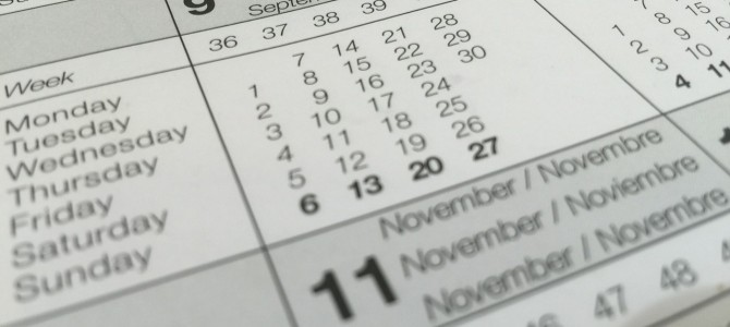 Kalendarz zajęć